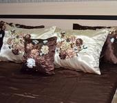 Подушки, одеяла, покрывала - Вышивка лентами