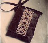 Сумки, рюкзаки - Сумка-планшет (геометрическая роспись)