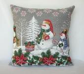 Оригинальные подарки - Подушка Новый год Снеговики