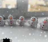 Свечи ручной работы - Свеча Снеговик
