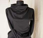 Кофты и свитера - Трикотажный блузон воротник стойка