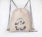 Сумки, рюкзаки - Мешочек рюкзачок Зайка