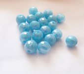 Фурнитура для бижутерии - Бусины голубые