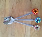 Лепка из глины - Чайные ложки с пончиками