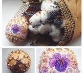Пасхальные яйца - Пасхальное яйцо из бисера с элементами вышивки
