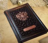 Ежедневники - Кожаный ежедневник ручной работы. Именной ежедневник с гравировкой