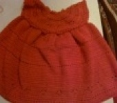 Платья - Коричневое платье крючком