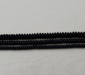 Фурнитура для бижутерии - Агат черный (рондель)  110шт