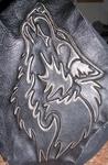 """Верхняя одежда - Объёмное изображение (давлёнка) """"Волк"""""""