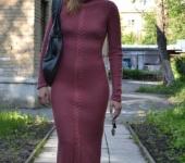 Платья - платье теплое розовое