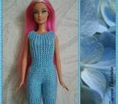 Одежда для кукол - Комбинезон Голубой