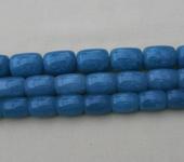 Фурнитура для бижутерии - Аквамарин (цилиндрические бусины)  24шт