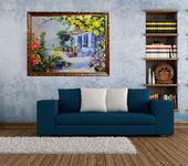 Элементы интерьера - Картина лентами — Дом у моря