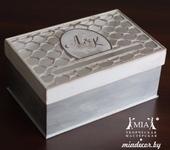 Свадебные аксессуары - Винтажная шкатулочка для дарения на свадьбу