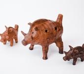 Лепка из глины - Кабанчик - керамическая свистулька