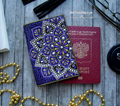 Обложки для паспорта - Обложка на паспорт с мандалами