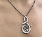 Кулоны, подвески - Змея - кулон - серебро 925