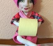 Ванная комната - Кукла-держатель запасного рулона туалетной бумаги