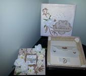 Подарки на свадьбу - Свадебная открытка с конвертом для денег(в коробке)