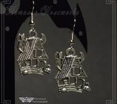 Серьги - Серьги ХЕЛЛОУИН (v. 001 серебро)