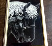 Живопись - Лошадь с жеребенком