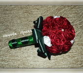 Цветы - Букет из атласных лент