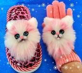 Варежки, митенки, перчатки - Нашивки Розовые кошечки