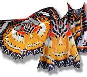 Платья - Сарафан, имитирующий крылья бабочки Златоглазка Библис