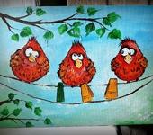 Рисунки и иллюстрации - Веселые пташки