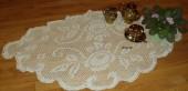 Скатерти, салфетки - Белая овальная салфетка