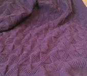 """Подушки, одеяла, покрывала - Плед """"Ежевичные ромбы"""""""