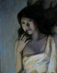 Живопись - Девушка с чёрными волосами