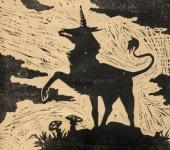 Гравюра - Единорог линогравюра