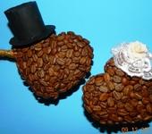 Оригинальные подарки - кофейный топиарий-влюбленные сердца