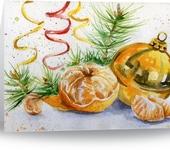 Рисунки и иллюстрации - новогодняя открытка