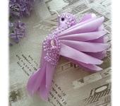 Броши - Брошь - сиреневая птичка колибри