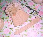 Одежда для кукол - Шапочка и шарф для куклы Blithe или аналогичной