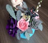 Элементы интерьера - Интерьерная композиция с цветами ручной работы из японской полимерной глины