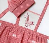 Одежда для девочек - Фартук детский с вышивкой Единорог