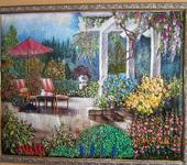 """Вышитые картины - картина """"В саду"""""""