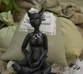 """Другие куклы - Шарнирная кошечка ручной работы из серии """"Антропоморфы""""."""