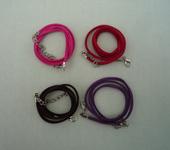 Фурнитура для бижутерии - Шнурок бархатный (4 цвета).  10шт