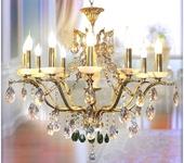 Светильники, люстры - Люстра AVRORA art. 12-03 бронза с ониксом