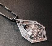 Кулоны, подвески - Маг - карта Таро - кулон с цепочкой - серебро 925 пробы
