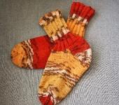 Носки и гольфы - Носочки теплые ПЕСТРЫЕ