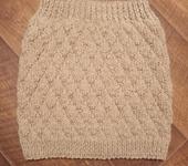 Юбки - Вязаная юбка с текстурным узором