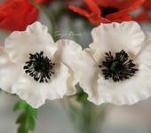 Цветы - маки из полимерной глины