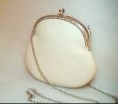 Сумки, рюкзаки - Маленькая кожаная сумочка белая (молочная) Ретро
