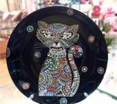 Тарелки - Тарелка точечная роспись