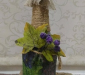 Декоративные бутылки - Декоративная бутылка «Виноградная»